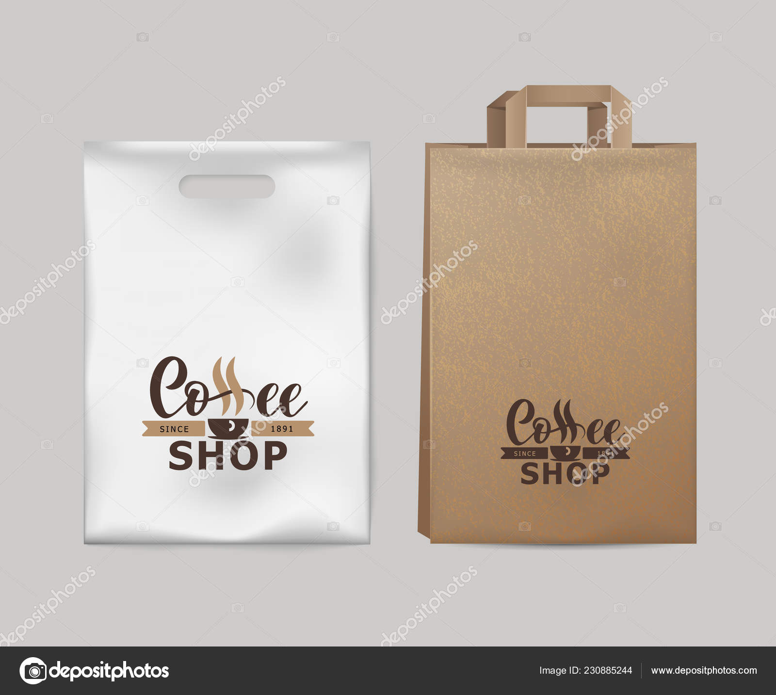 Corporate Identity Coffee Industry Template Of Paper Pack