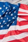 Amerikai nemzeti zászló, felülnézet.