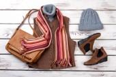 Ženské teplé zimní oblečení.
