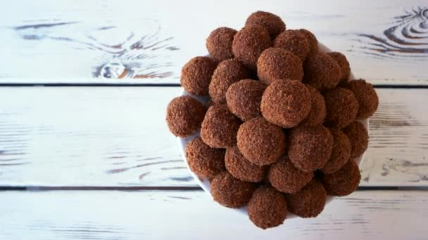 Chocolate ball shaped cookies.