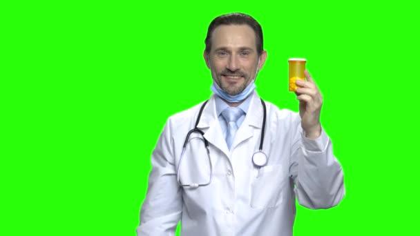 Doctor advertising pills.
