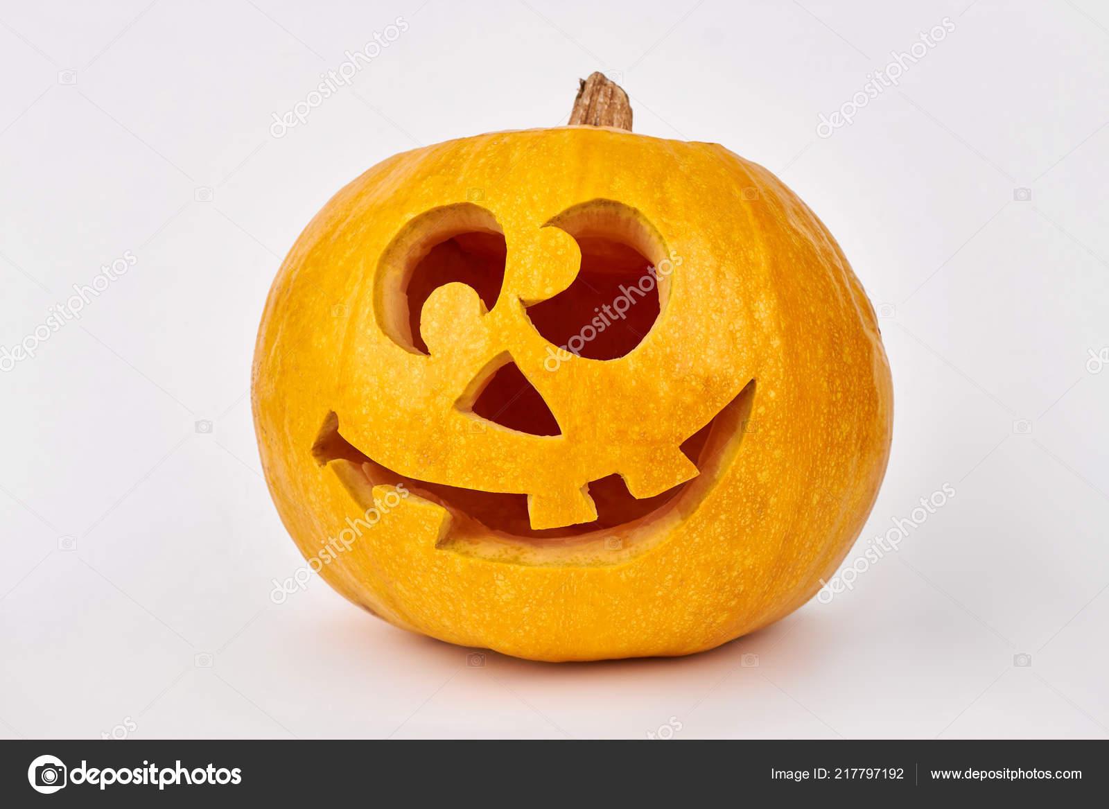 Jack O Lantern Face Ideas Carved Halloween Pumpkin Stock Photo C Denisfilm 217797192