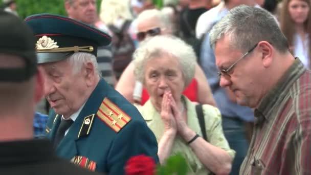 Za druhé světové války SSSR veterán důstojník v přeplněných parku