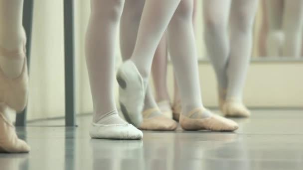 Ballerinas feet in pointes.