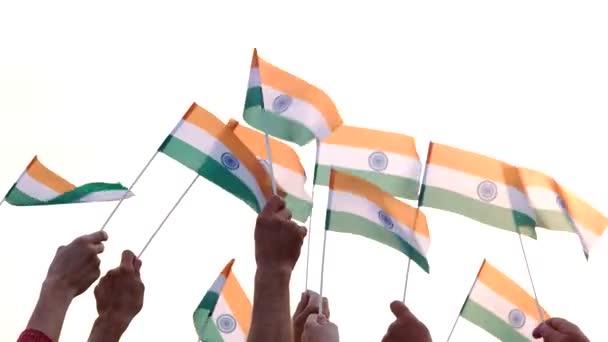 Lidé hospodářství indické vlajky