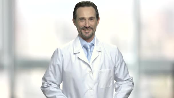 Zralé věda specialista na rozostřeného pozadí.