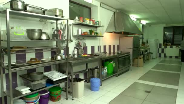 Interior of commercial kitchen.