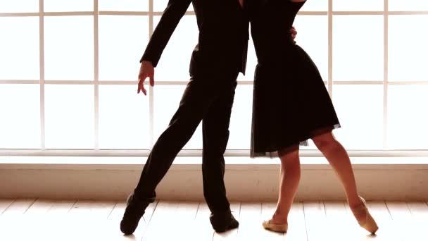Young modern ballet dancers.