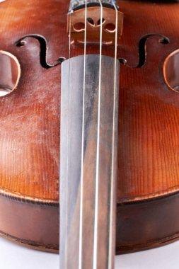 Close up brown vintage violin.