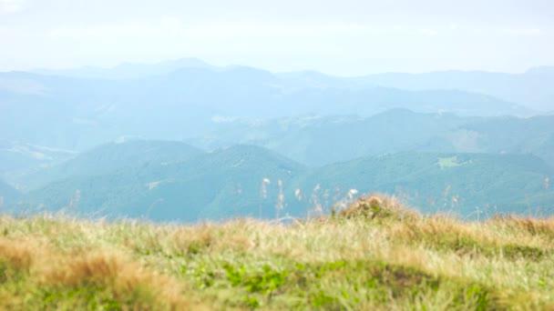 Beautiful panoramic landscape of Carpathian Mountains.