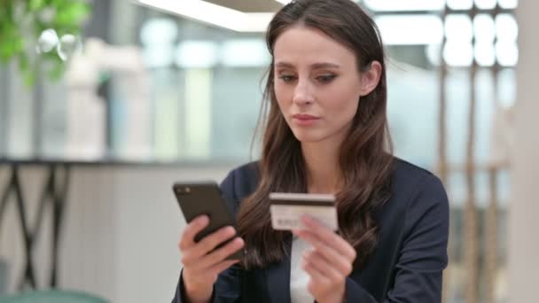 Close up of Online Payment on Smartphone by Businesswoman