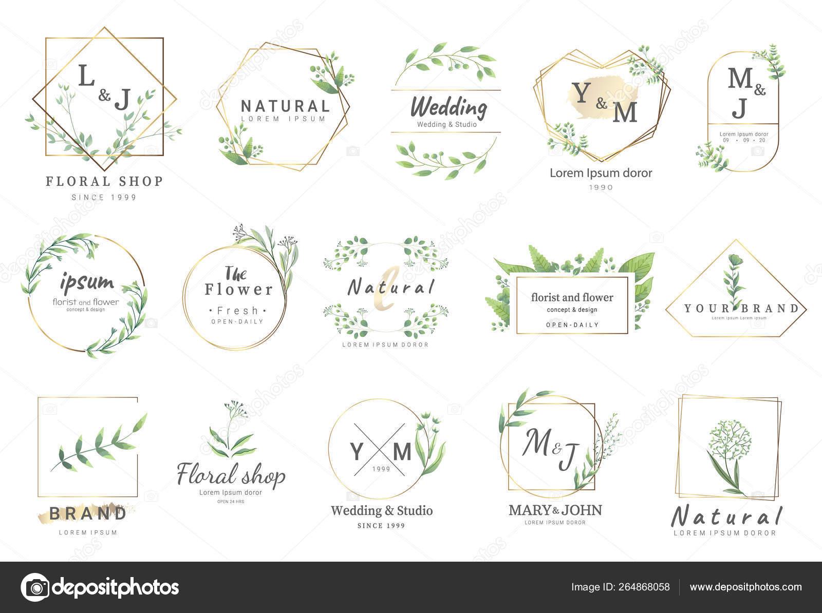 Premium Logo Vorlagen Für Hochzeit Logo Visitenkarte