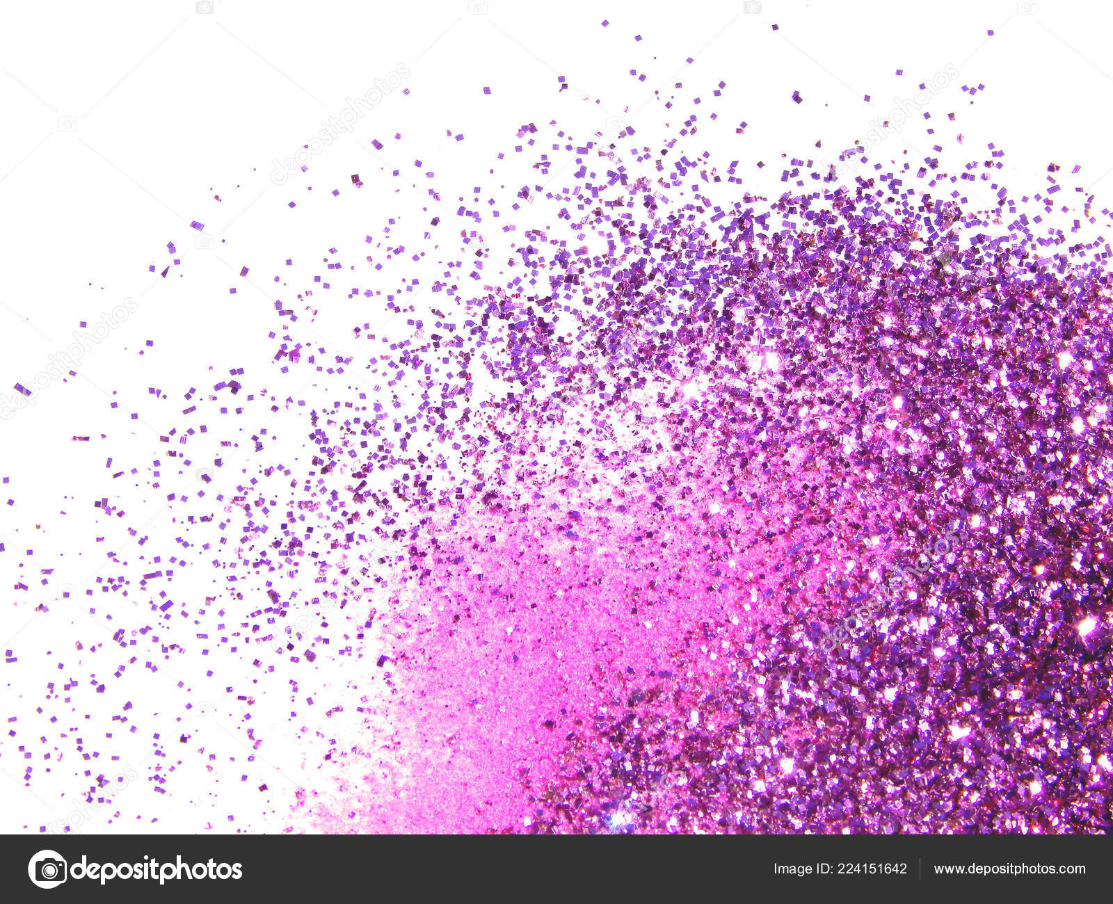 Purple Glitter Sparkles White Background Beautiful Abstract