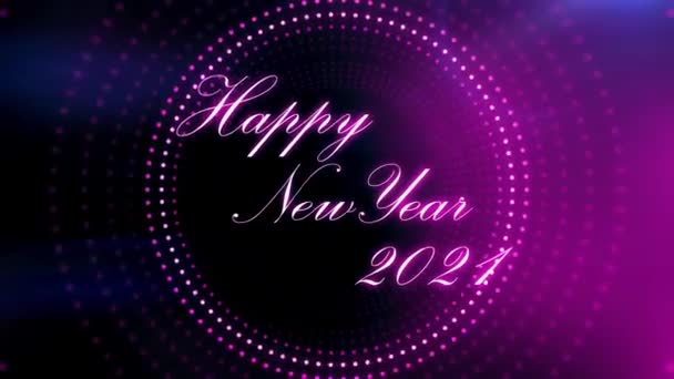 New year 2021 presentation with 3D visual effects, 3D animated light rays with hollow effect, New year celebration , New year video