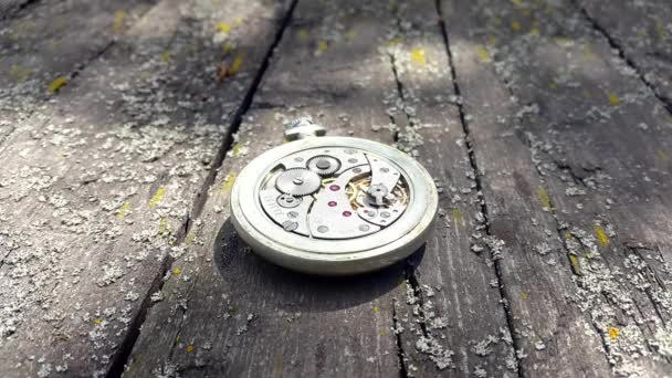 Inside of watch mechanism. Old Stopwatch .