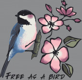 vector illustration of free as a bird, Be free as this bird,  Colorful Flower Vector Colorful floral Vectors, t-shit print designs
