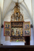 Wooden, carved Altar in the church, Banska Bystrica, Master Paul of Levoca, Slovakia.