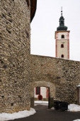 Walls and tower in banska Bystrica, Slovakia.