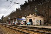 Železniční stanice Banská Bystrica, město, Slovensko.