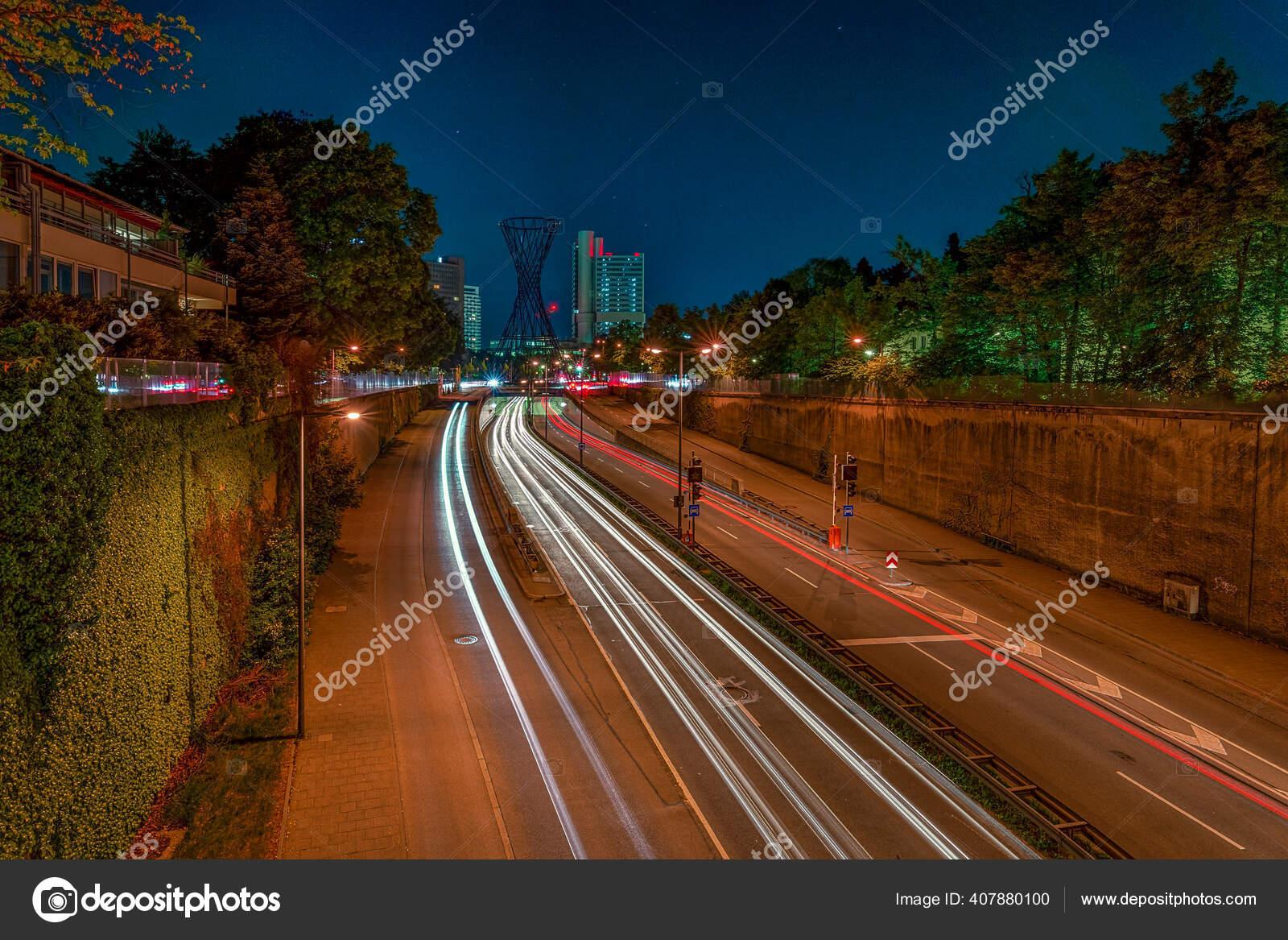 Munich Bavaria Night Popular German City Long Exposure Photography Light Stock Photo C Allessuper 407880100