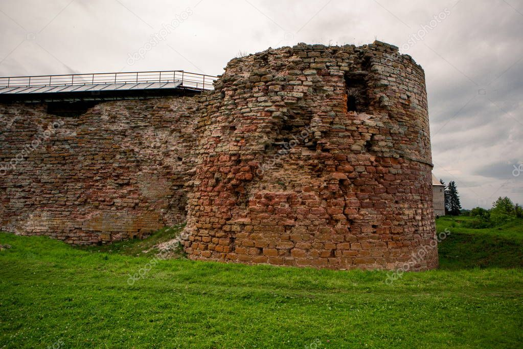 Ruined buildings in the territory of the Oreshek Fortress in Schlsselburg