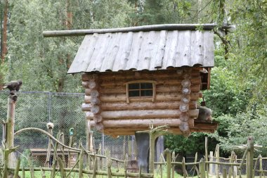 A hut on chicken legs. House of fairy Baba Yaga