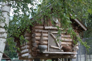 A hut on chicken legs. House of fairy Baba Yaga