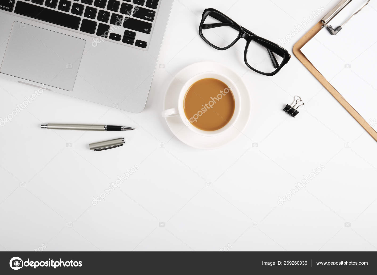 Top View Office Table Desk — Stock Photo © ChristianChan