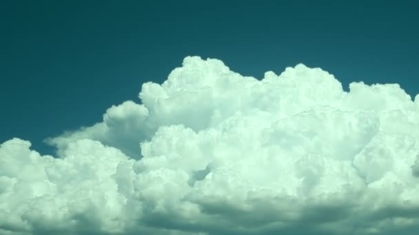 White clouds moving fast on sky, time lapse