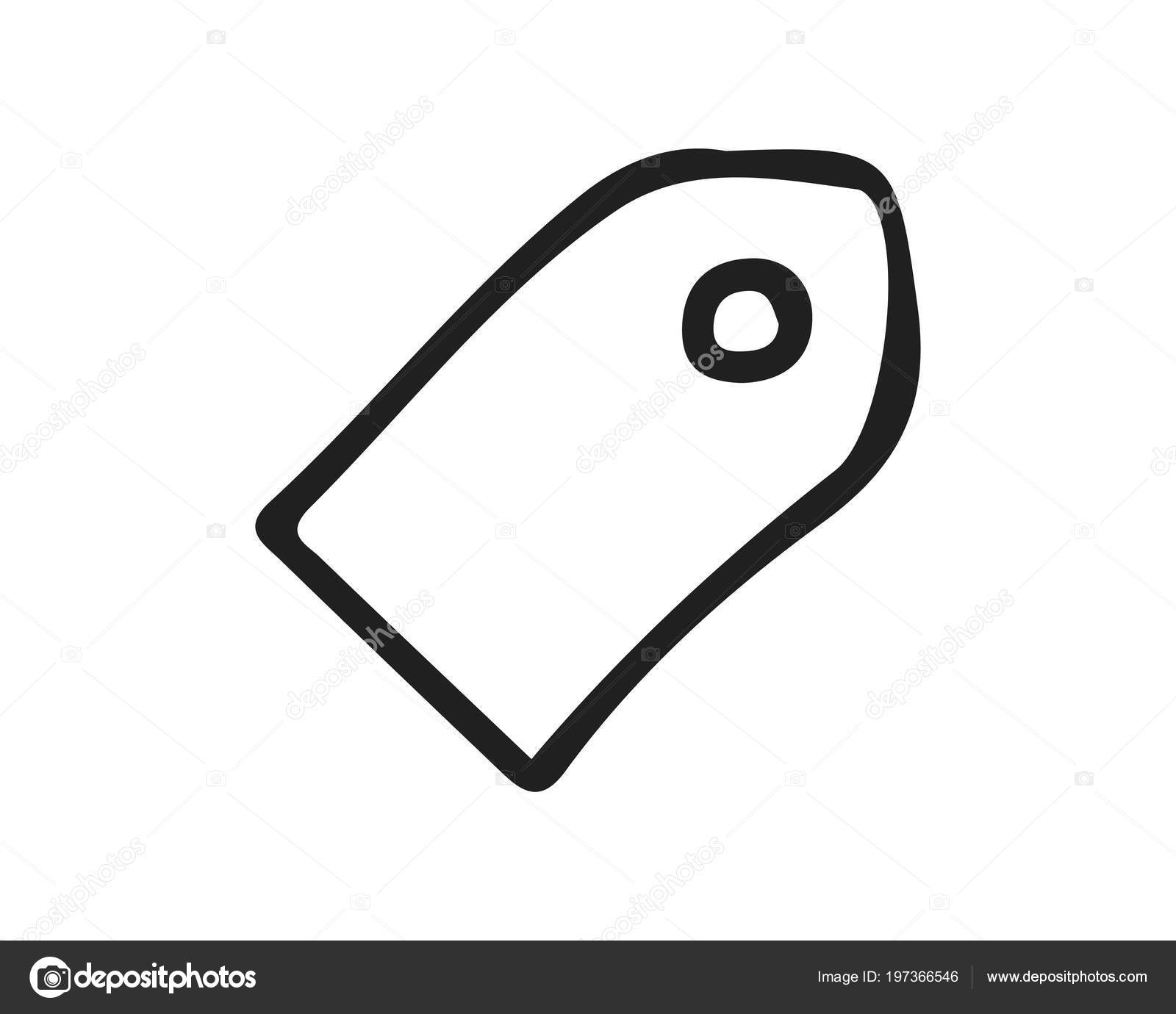 Price Tag Icon Design Illustration Hand Drawn Style Design Designed