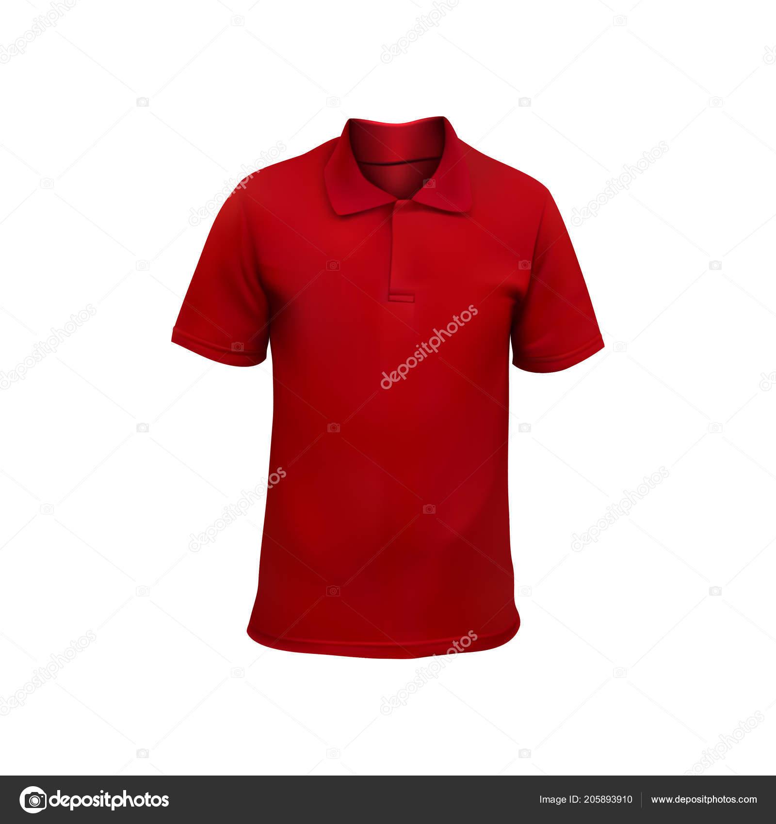 011b1b382773 Κόκκινο Ανδρικό Shirt Ρεαλιστική Κοροϊδεύω Εικονογράφηση Διάνυσμα– εικονογράφηση  αρχείου