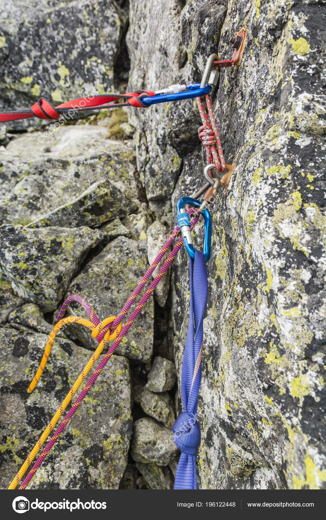 Rappel Stance Safety Loop Rappel Rope While Preparing Rappelling