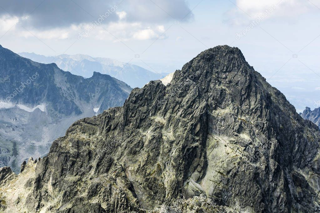 Peak Durny Szczyt (Pysny stit) - An outstanding peak in the high tatras in Slovakia. The goal of ambitious tourist trips and climbing in the National Park.