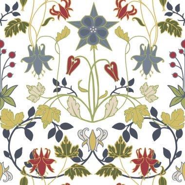 Modern Art Nouveau Tiffany vector pattern