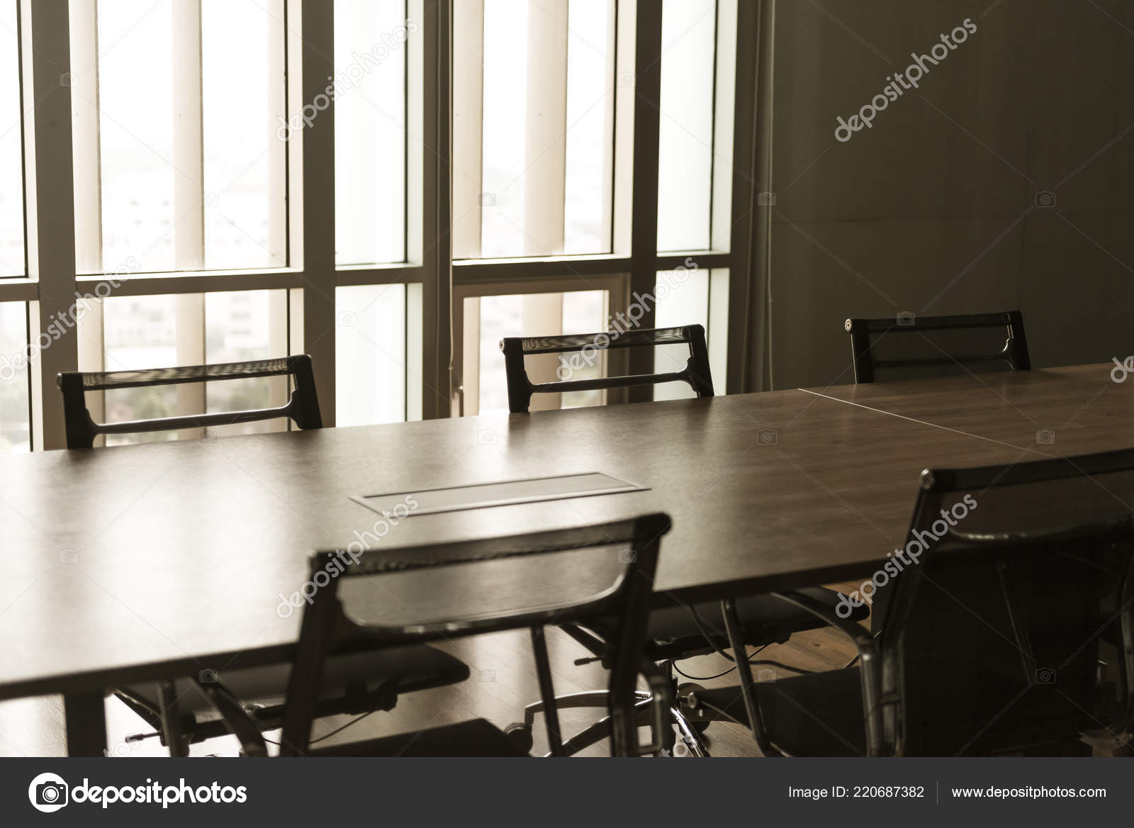 Table and chairs in office meeting room. empty conference room. 42