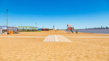 The San Jose beach in Encarnacion in Paraguay on the river Parana.