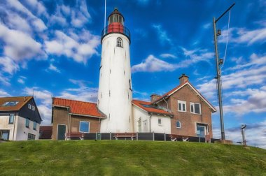 Close-up of the lighthouse of Urk at the Dutch Ijsselmeer