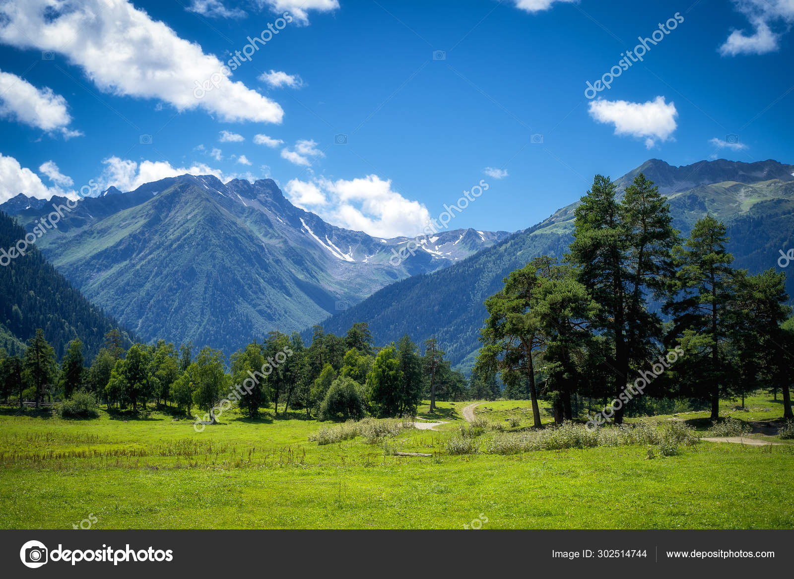 Nature mountains landscape in the summer day — Stock Photo