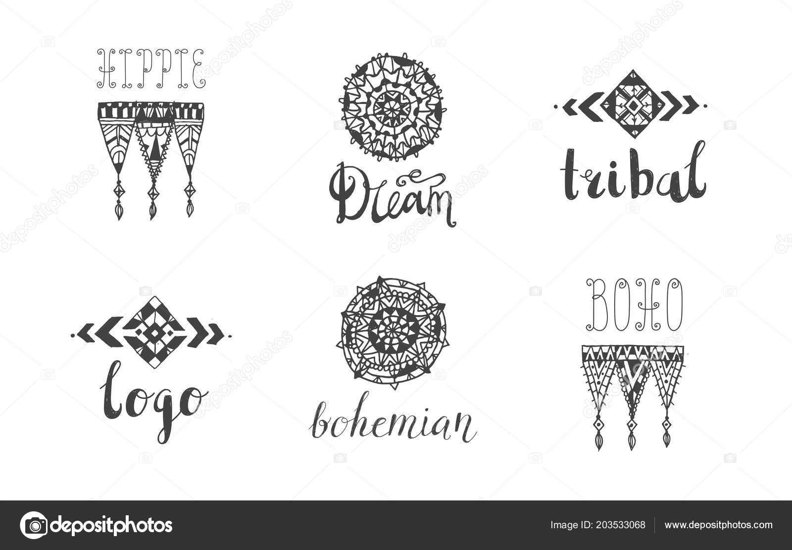 da3373c8dcc Doodle boho style borders — Stock Vector © Marylia  203533068