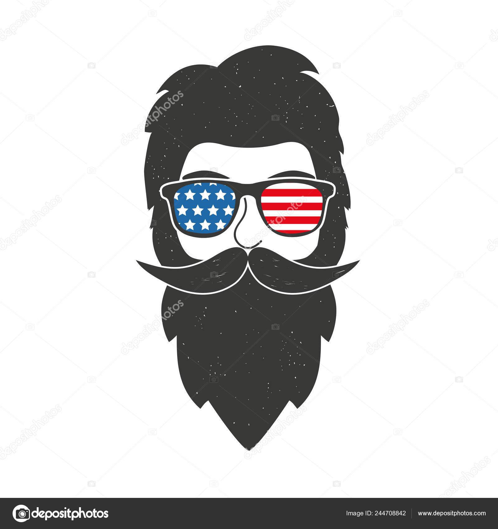 05844049deb National American Print Design 4Th July Memorial Day Card — Stock Vector