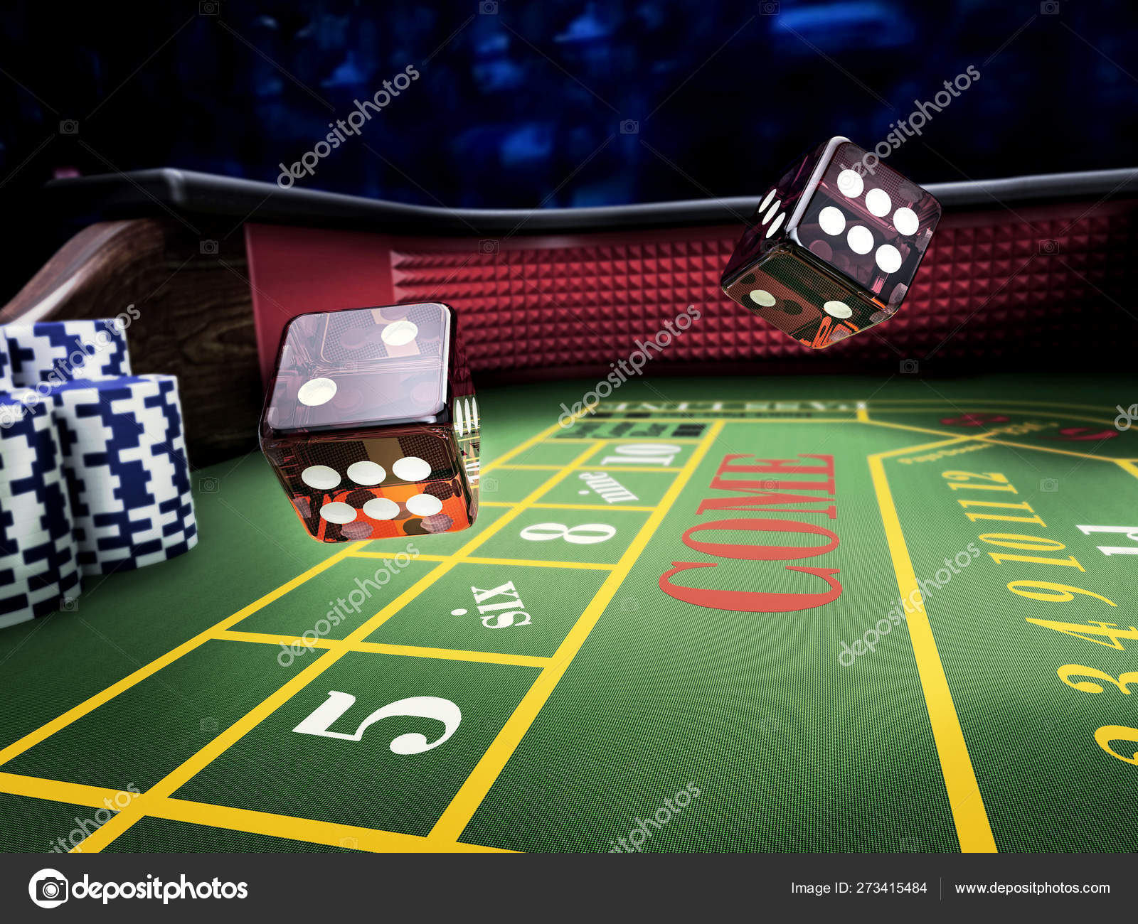 Dices Throw Craps Table Casino Stock Photo C Serpeblu 273415484