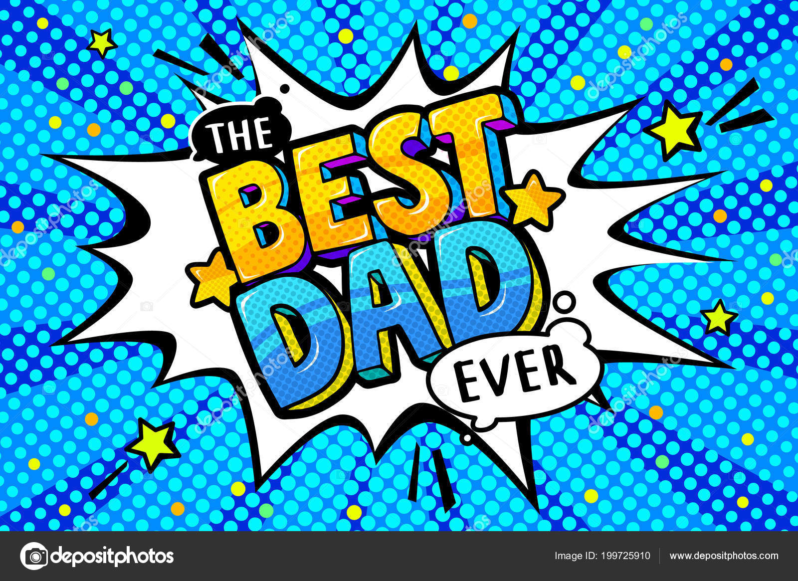 Best Dad Message Sound Speech Bubble Happy Father Day