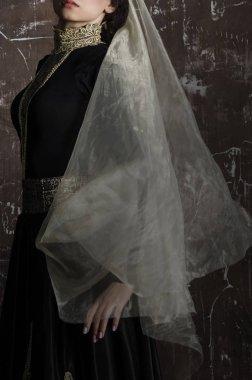 armenian woman in traditional black dress