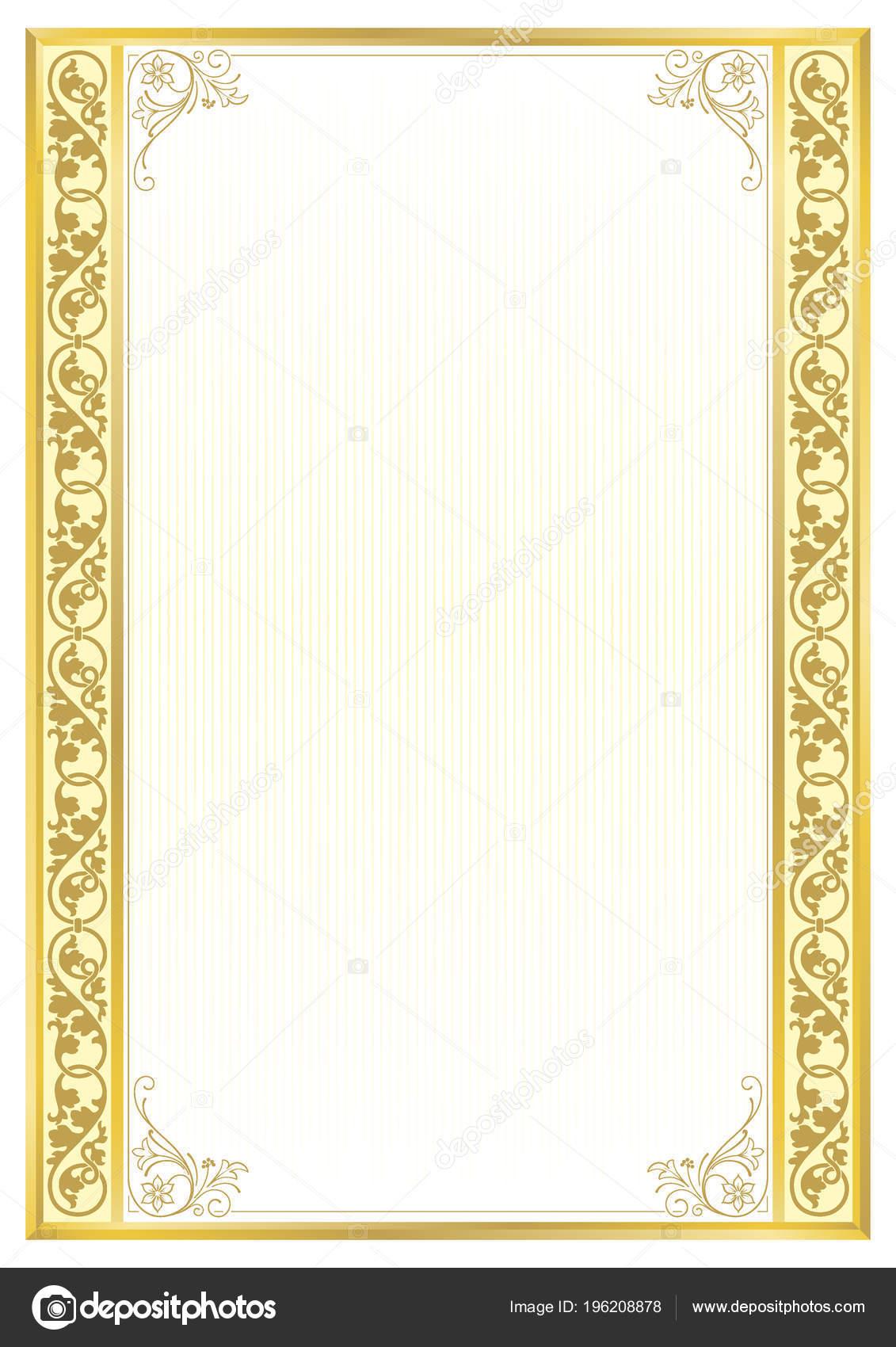Dekorative Rechteckige Rahmen Vorlage Für Diplom Zertifikat Karte ...