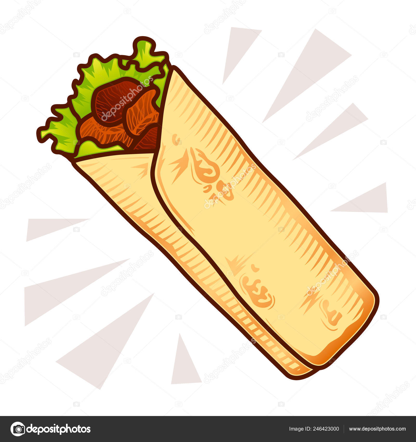 Mexican or Arabic Fast Food for your Menu Design  Kebab