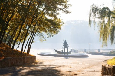 Belarus, Gomel, Monument to the ancient inhabitant of the city of Gomel.Gomel city 2020
