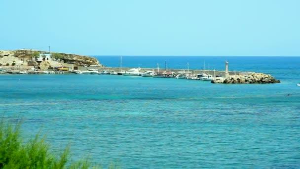 Wonderful seascape. Hotels along the sea coast.