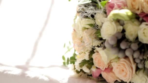 Wedding bridal bouquet. Wedding floristry. Close up.