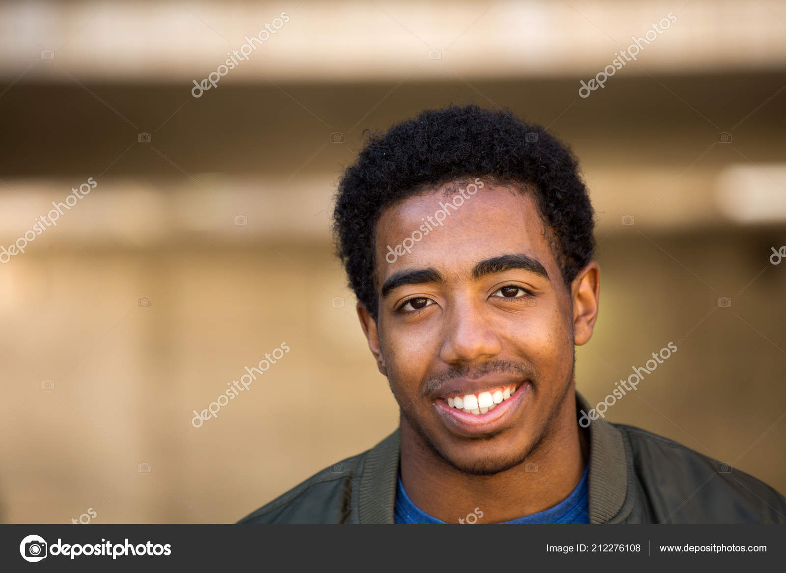 African American Teenage Boy Smiling Stock Photo Image By C Pixelheadphoto 212276108