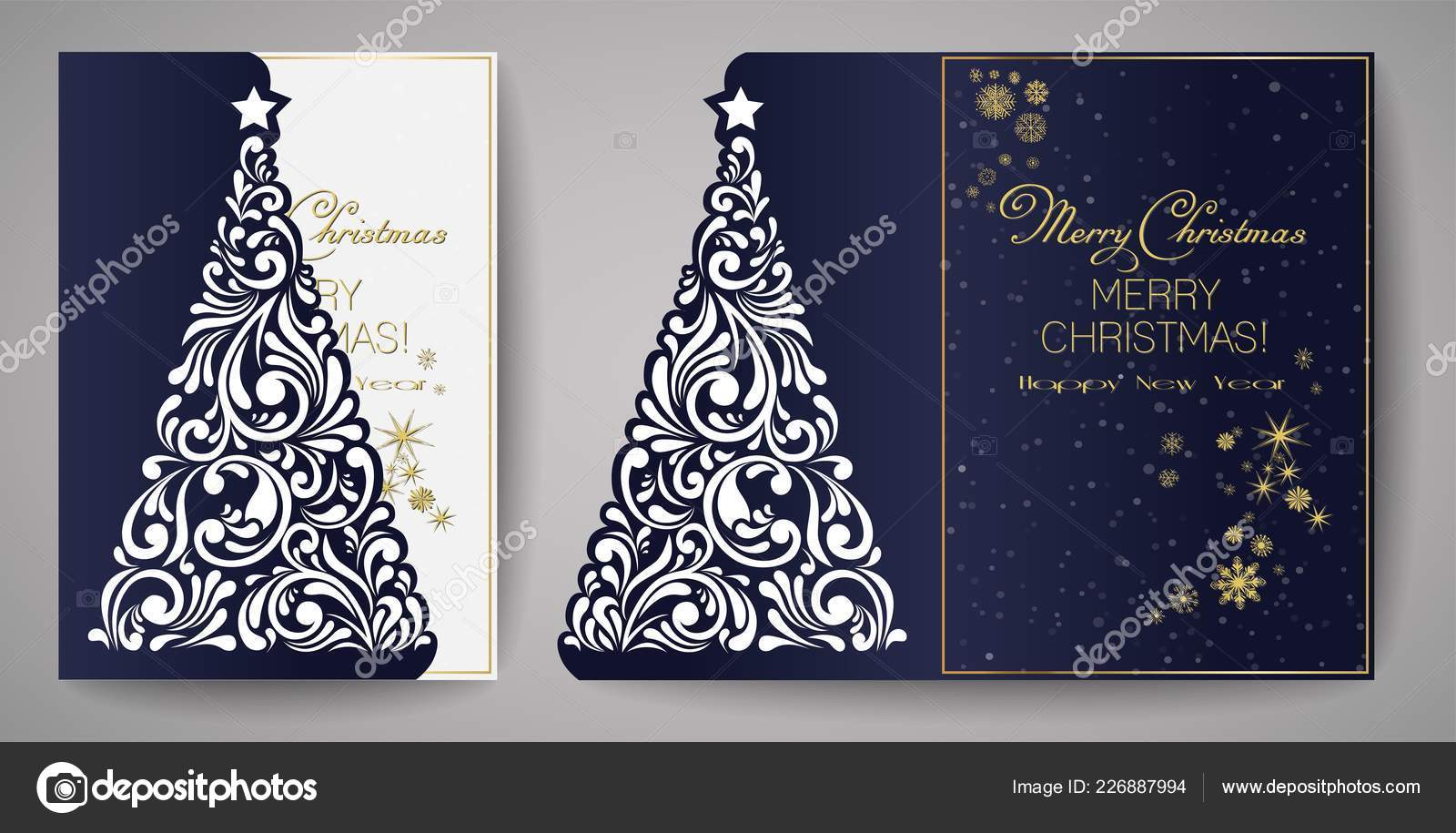 laser cut template for christmas cards square invitation for party